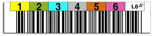 Tri-Optic Label being scanned